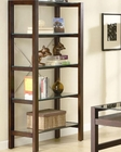 Skillman Contemporary Bookcase with 5 Glass Shelves CO800943