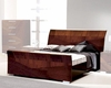 Sleigh Bed in High Gloss Walnut Finish 33B162