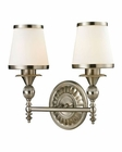 ELK Smithfield Collection 2 light bath in Brushed Nickel EK-11601-2