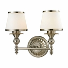 ELK Smithfield Collection 2 light bath in Brushed Nickel- LED EK-11601-2-LED