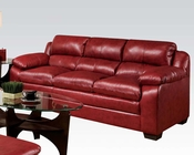 Sofa in Soho Cardinal Finish Jeremy by Acme AC50595