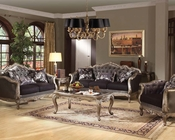 Sofa Set Chantelle in Antique Platinum by Acme Furniture AC51540SET