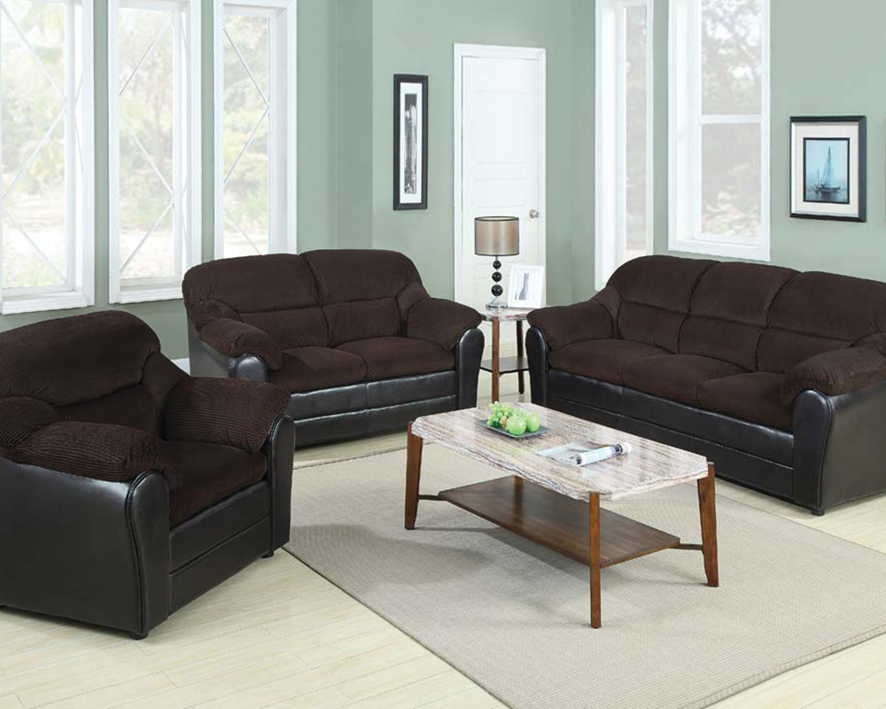 Sofa Set Connell Chocolate By Acme Ac15975set