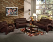 Sofa Set in Chocolate Finish Irisa by Acme AC51735SET