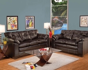 Sofa Set in Premier Chocolate Hayley by Acme AC50355SET