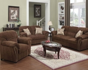 Sofa Set Patricia Dark Brown by Acme AC50130SET