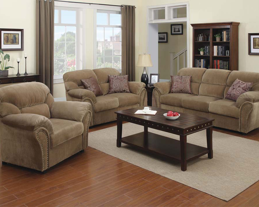 Superb Sofa Set Patricia Light Brown By Acme Ac51950Set Caraccident5 Cool Chair Designs And Ideas Caraccident5Info