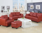 Sofa Set Platinum Red by Acme Furniture AC15100B-SET