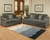 Sofa Set Rocky Contemporary Style in Charcoal Finish BH-47SS221