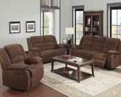 Sofa Set w/ Motion Bailey Dark Brown by Acme Furniture AC51025SET
