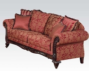 Sofa w/ 6 Pillows Fairfax Magenta by Acme Furniture AC50330