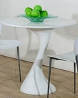 Sofia Modern Round White Lacquer Table 44D1145DT