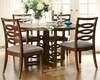 Somerton Dwelling Contemporary Dining Set Claire de Lune SO-801-61SET