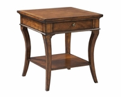 Square End Table European Legacy by Hekman HE-11104