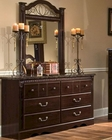 *Standard Furniture Dresser & Mirror Sorrento ST-4009-18