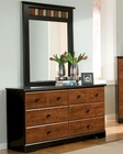 Standard Furniture Dresser & Mirror Steelwood ST-61259-68