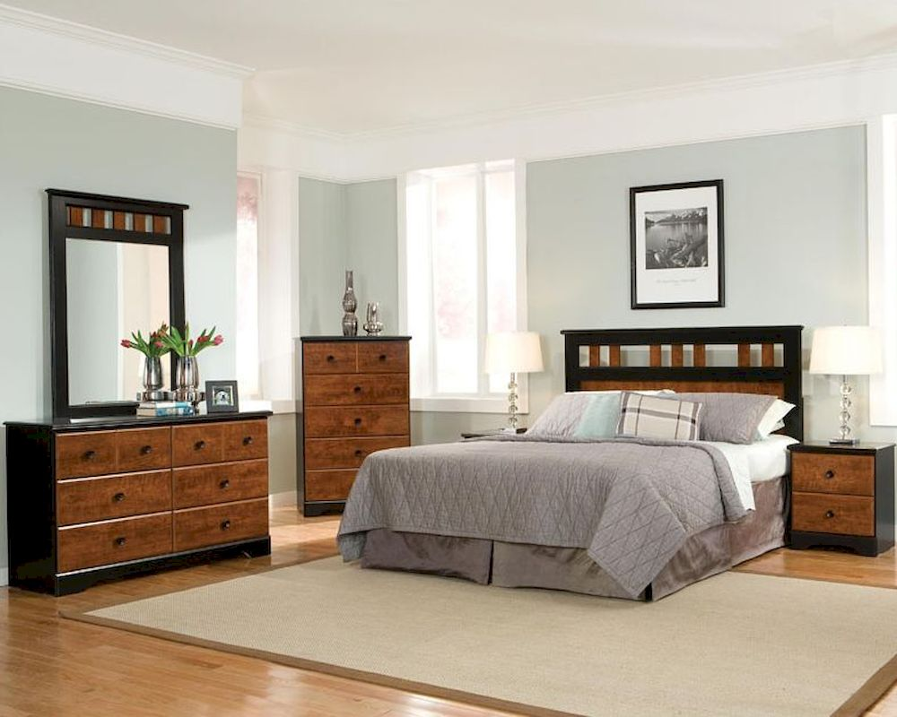 Standard Furniture Panel Bedroom Set Steelwood St 61250set