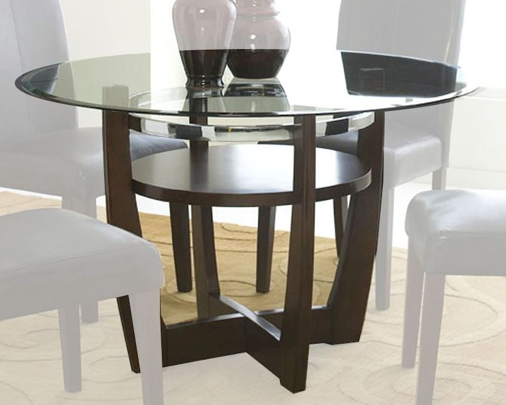 Standard furniture round dining table apollo st 10801 1010801 for Glass top dining table next