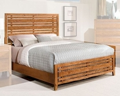 Standard Furniture Slat Bed Drake Caramel ST-94150SQ