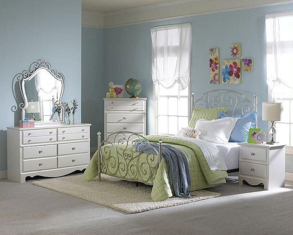 Standard Furniture Spring Rose Bedroom Set St 50283setdr