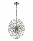 ELK Starburst 9 Light Chandelier in Polished Chrome EK-11545-9