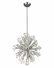 ELK Starburst Collection 15 Light Chandelier in Polished Chrome EK-11750-15