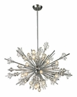 ELK Starburst Collection 24 Light Chandelier in Polished Chrome EK-11752-24