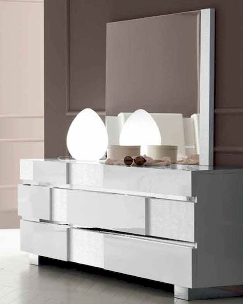modern dresser with mirror status caprice dresser and mirror in modern style 33190sc 16365