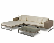 Stone Yellow Patio Sectional Sofa in Modern Style 44P180-SET