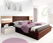 Storage Bed Mario in Dark Wenge Modern Style Made in Spain 33B382