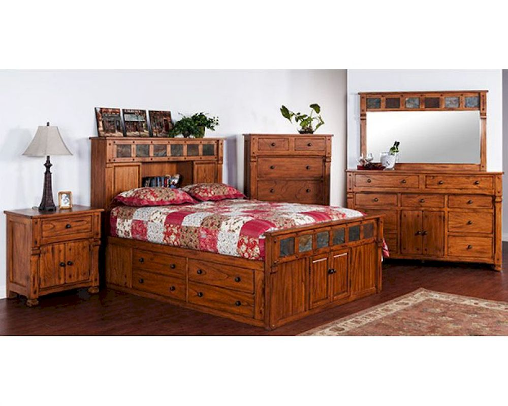 Storage Bedroom Set Sedona By Sunny Designs SU 2322RO S Set