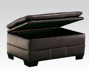 Storage Ottoman in Chocolate Hayley by Acme Furniture AC50358