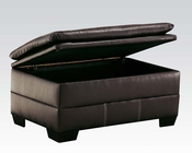 Storage Ottoman in Onyx Hayley by Acme Furniture AC50353