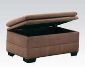 Storage Ottoman Lucille Espresso by Acme Furniture AC50368
