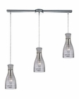 ELK Strata Collection 3 Light Chandelier in Polished Chrome EK-46107-3L