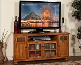 Sunny Designs 60in TV Console in Rustic Birch Finish SU-3460RB