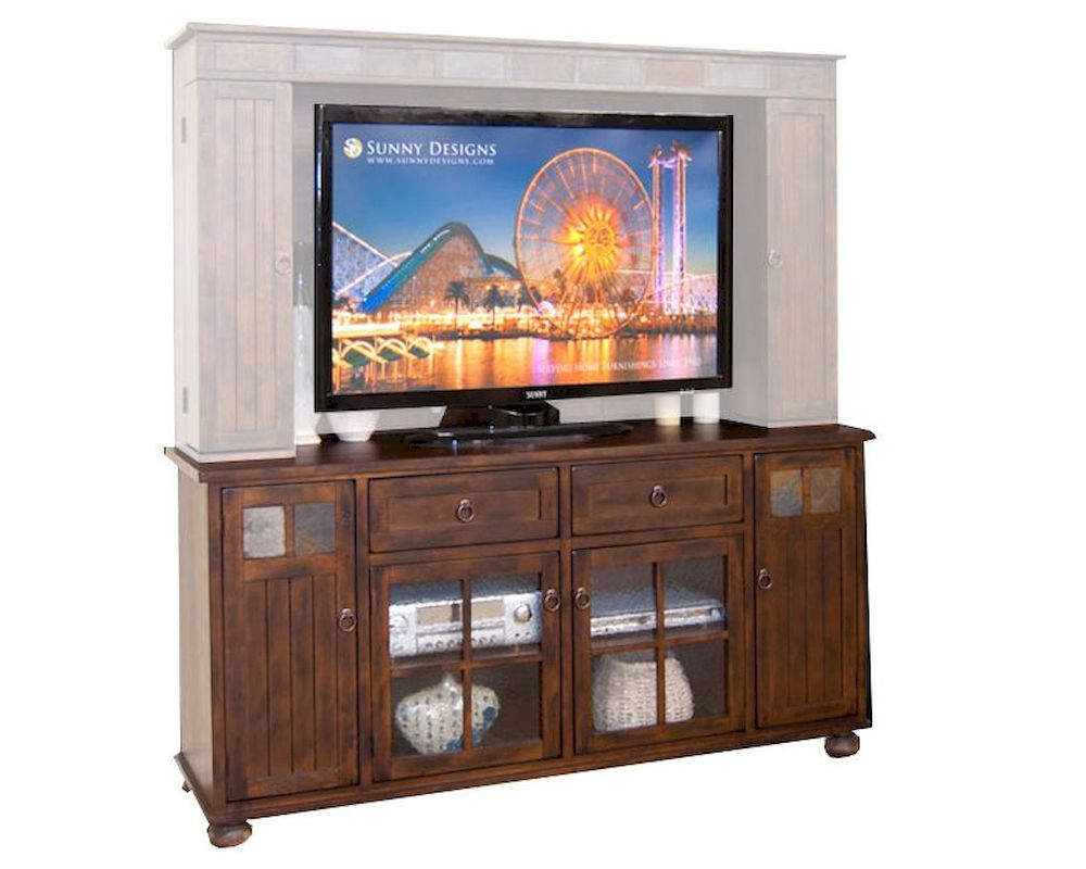Sunny Designs 72in Tv Console Santa Fe Su3322dc Tc