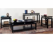 Sunny Designs Black Occasional Table Set SU-3224Bs