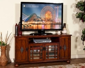 Sunny Designs Brown Cherry TV Console SU-3460BC