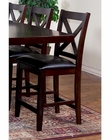 "Sunny Designs Crossback 24""H BarStool  Espresso SU-1889E-24 (Set of 2)"