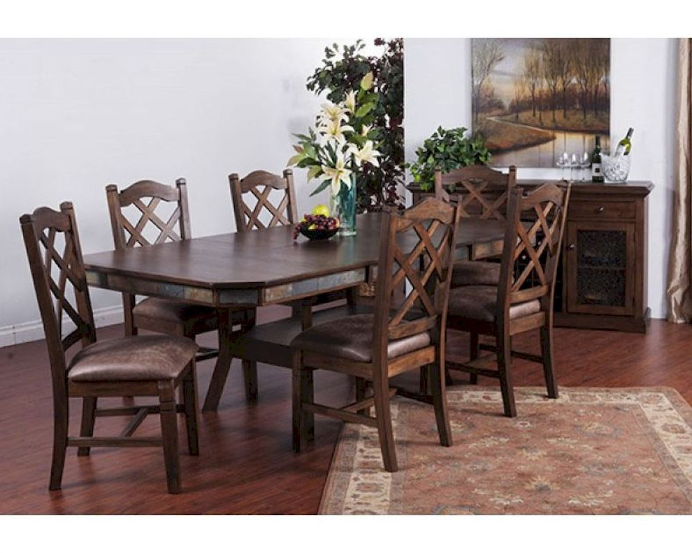 Sunny Designs Dining Set W Adjustable Height Dining Table