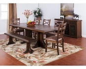 Dining Set w/ Extension Table Savannah by Sunny Designs SU-1199ACs