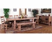 Sandalwood Dining Set w/ Extension Table by Sunny Designs SU-1316SWs