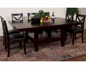 Dining Set w/ Grand Family Table Espresso by Sunny Designs SU-1197Es