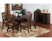 Dining Set w/ Lazy Susan Table Savannah by Sunny Designs SU-1365ACs