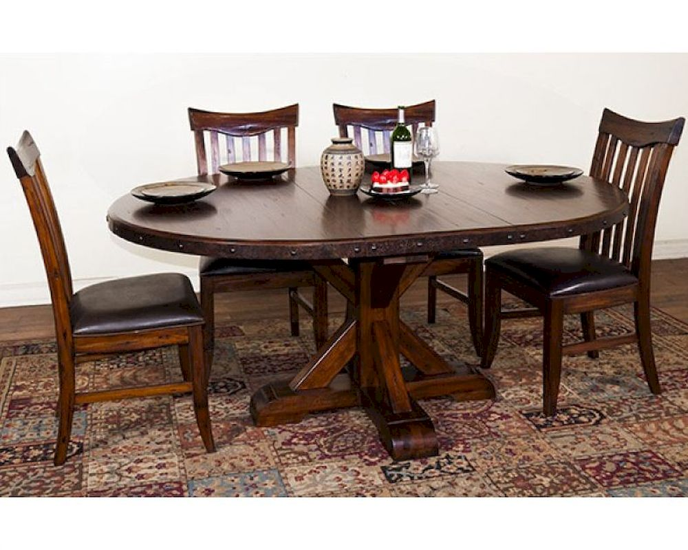 Dining Sets Tuscany Solid Wood Large Dining Set Table 6 Chairs: Crosswinds Dining Set W/ Extension Table By Sunny Designs