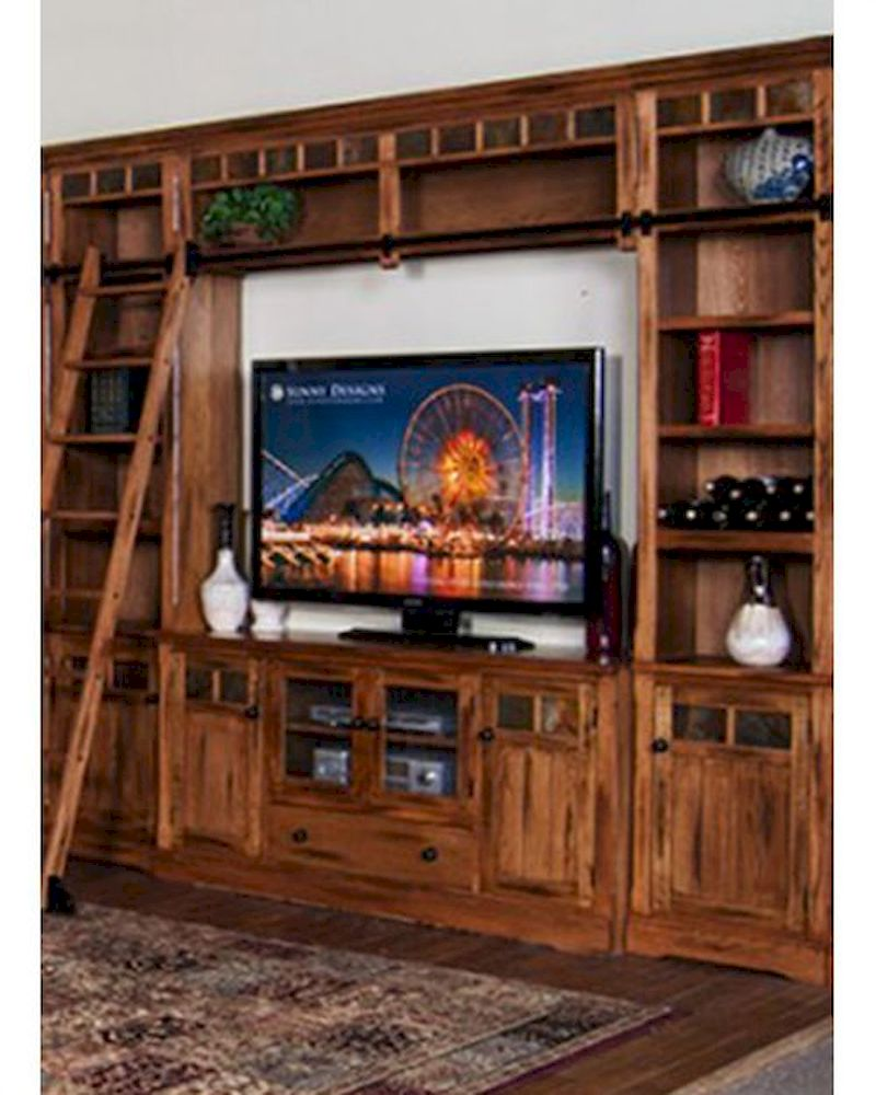 Sunny designs entertainment center sedona su 2966ro eset Design plans for entertainment center