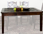 Santa Fe Extension Table w/ Slate by Sunny Designs SU-1273DC