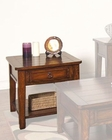 Sunny Designs Mango Grove End Table SU-3201WH-E