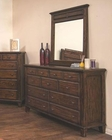 Sunny Designs Safari Dresser and Mirror SU-2342SB-DM